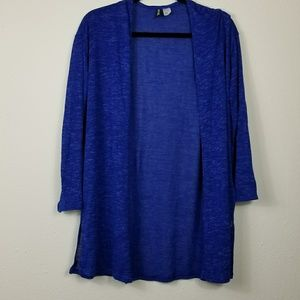 Divided by H & M open front blue cardigan